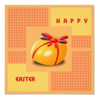 Cartão do ovo da páscoa convite quadrado 13.35 x 13.35cm