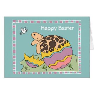 Cartão do ovo da páscoa da tartaruga da estrela (a