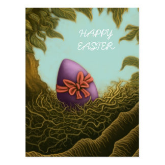 cartão do ovo de felz pascoa cartão postal