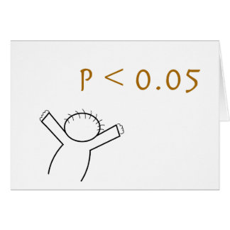 cartão do P-valor para estatísticos