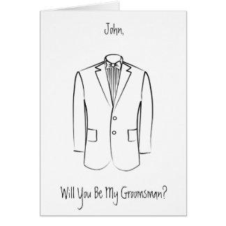 Cartão do padrinho de casamento