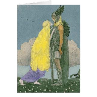 Cartão do Pagan dos noruegueses de Freya da deusa