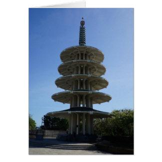 Cartão do pagode #3 da paz de San Francisco