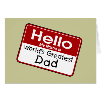 Cartão do pai do mundo o grande