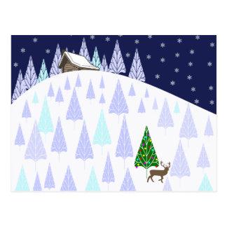 Cartão do país das maravilhas do inverno