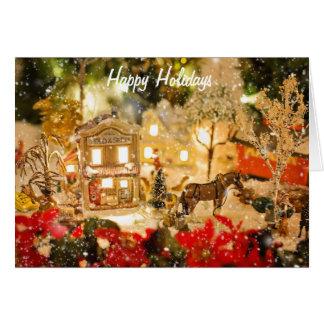 Cartão do país das maravilhas do inverno da vila