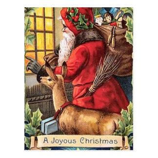Cartão do papai noel do vintage do Natal