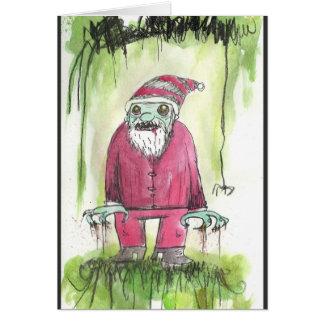 Cartão do papai noel do zombi