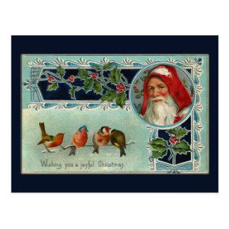Cartão do papai noel e dos Snowbirds do vintage Cartão Postal