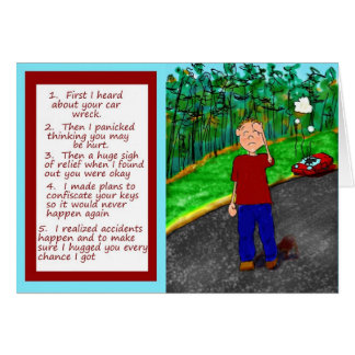 Cartão do papel do acidente da destruição do carro