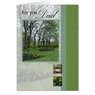 Cartão do parque da floresta do dia dos pais