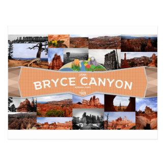 Cartão do parque nacional da garganta de Bryce