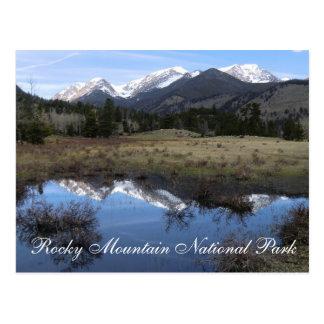 Cartão do parque nacional de montanha rochosa