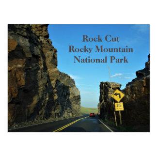Cartão do parque nacional de montanha rochosa de