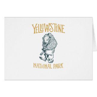 Cartão do parque nacional de Yellowstone