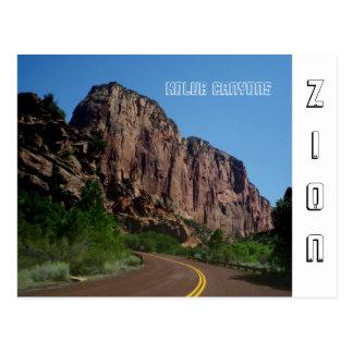 Cartão do parque nacional de Zion