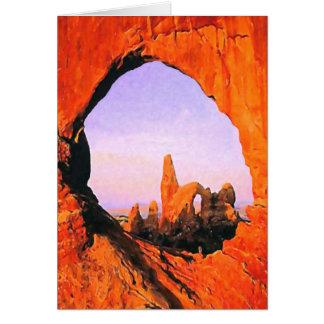 Cartão do parque nacional dos arcos