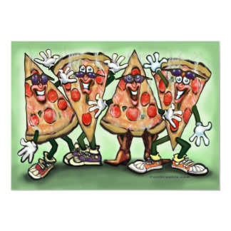Cartão do partido da pizza convite personalizados