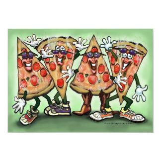 Cartão do partido da pizza convite 12.7 x 17.78cm