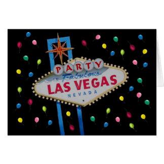 Cartão do PARTIDO de Las Vegas