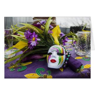 Cartão do partido do carnaval