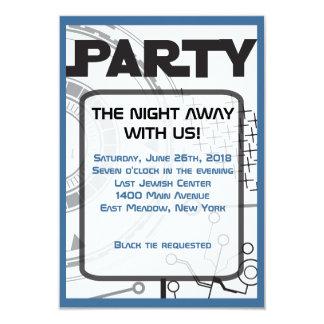 Cartão do partido do convite de Mitzvah do bastão
