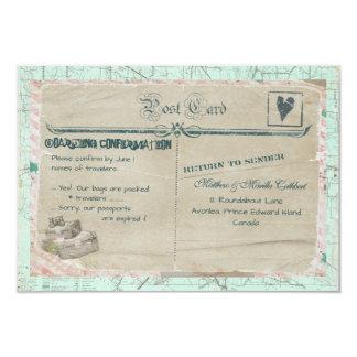 Cartão do partido RSVP do viagem das malas de