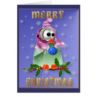 Cartão do pássaro da decoração do Natal