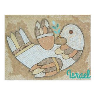 Cartão do pássaro da paz de Israel