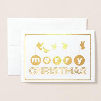 Cartão do pássaro do Feliz Natal