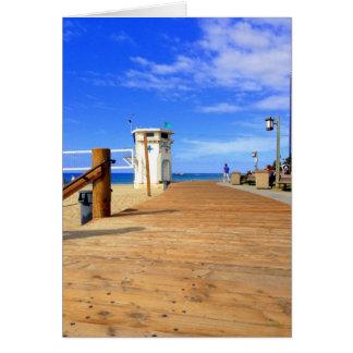 Cartão do passeio à beira mar da praia