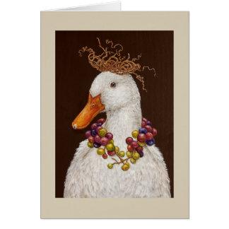 Cartão do pato do vinhedo