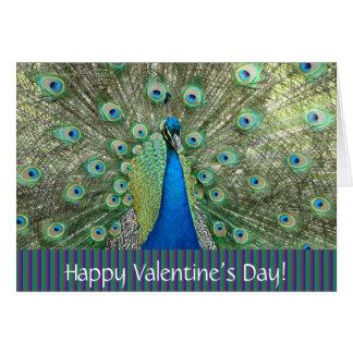 Cartão do pavão do Day_ dos namorados