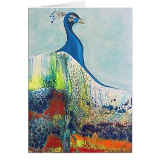 Cartão do pavão do esplendor