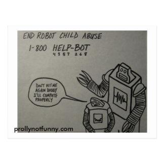 Cartão do pederastia do robô da extremidade