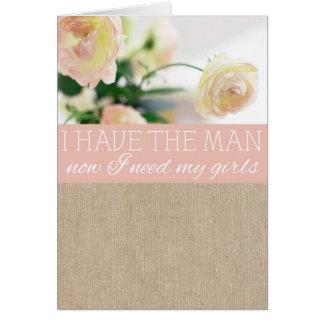 Cartão do pedido da dama de honra de serapilheira