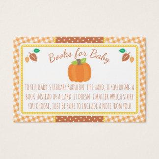 Cartão do pedido do livro do chá de fraldas da