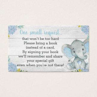 Cartão do pedido do livro do chá de fraldas do