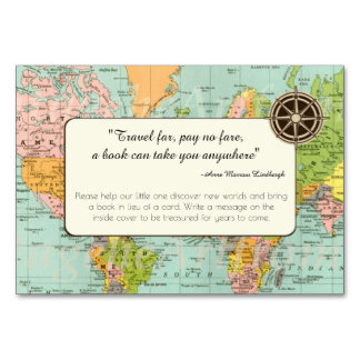 Cartão do pedido do livro - mapa do mundo