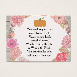 Cartão do pedido do livro - rústico floral