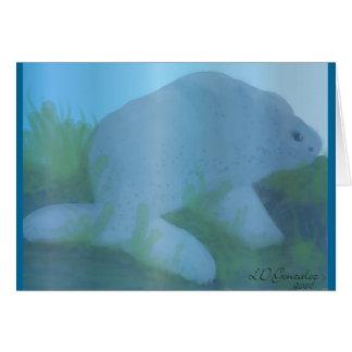 Cartão do peixe-boi