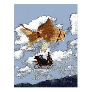 Cartão do peixe dourado