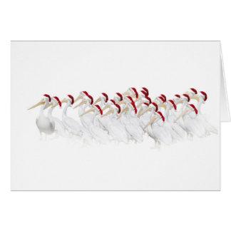 Cartão do pelicano boas festas