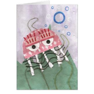 Cartão do pente das medusa