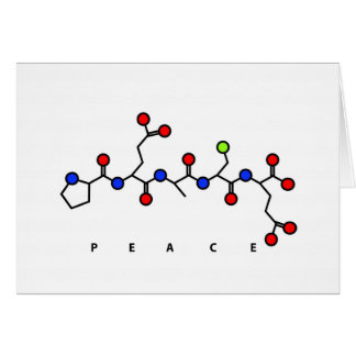 Cartão do peptide da PAZ