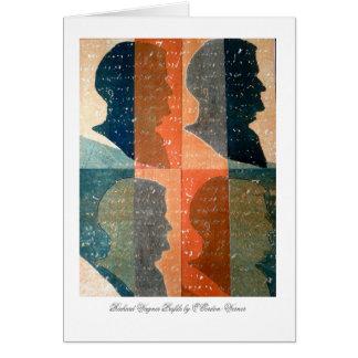 Cartão do perfil de Richard Wagner (marrom azul)