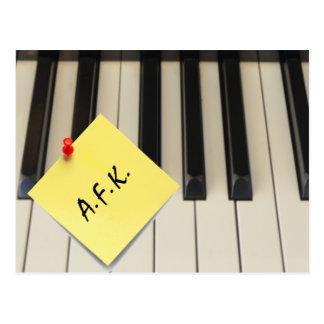 Cartão do piano A.F.K. (longe do teclado)
