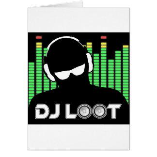 Cartão do pilhagem do DJ