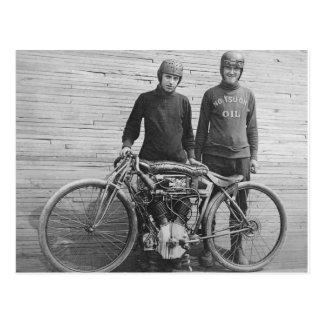 cartão do piloto da motocicleta dos anos 30