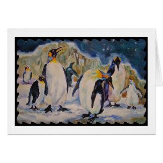 Cartão do pinguim de Chillin